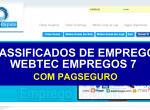 Criação se sites para agencias de empregos e recursos humanos – desenvolvimento de sites para classificados de empregos Modelo: WEBTEC-EMPREGOS-7