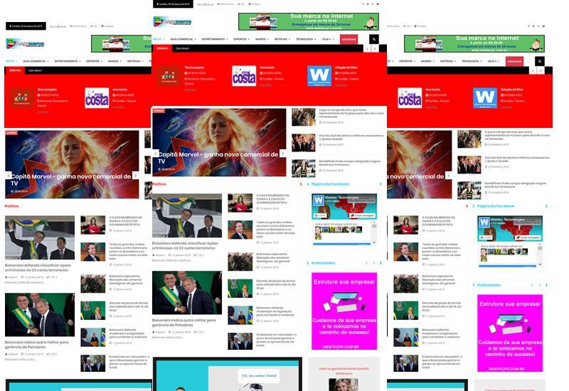 Webtec News 12 - 14 - Venda assinatura de notícias e guia comercial  com um site pronto de notícias