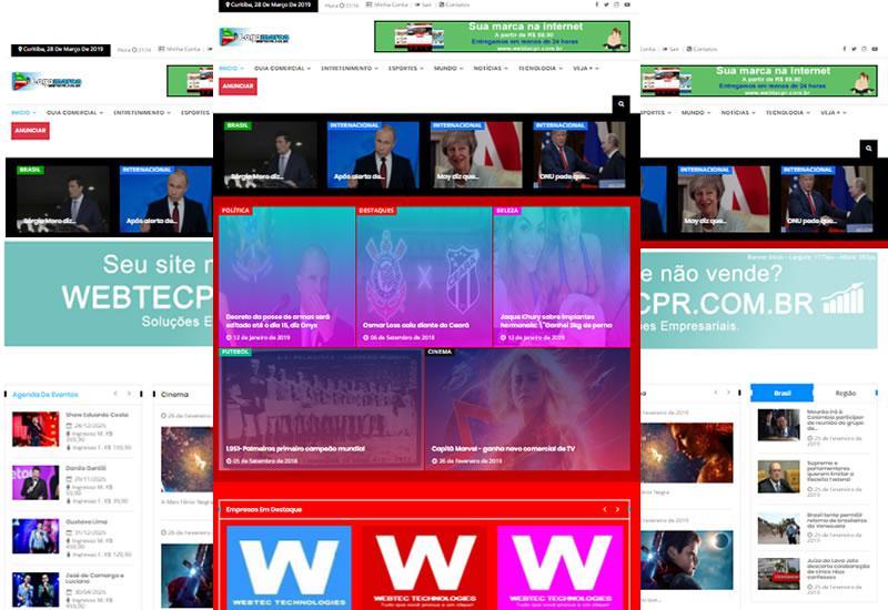 Webtec News 12 - 3 - Site pronto para notícias e guia comercial mega site o mais completo do mercado