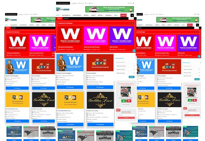 Webtec News 12 - 63 - criação de sites para guia comercial - criamos site para guia comercial