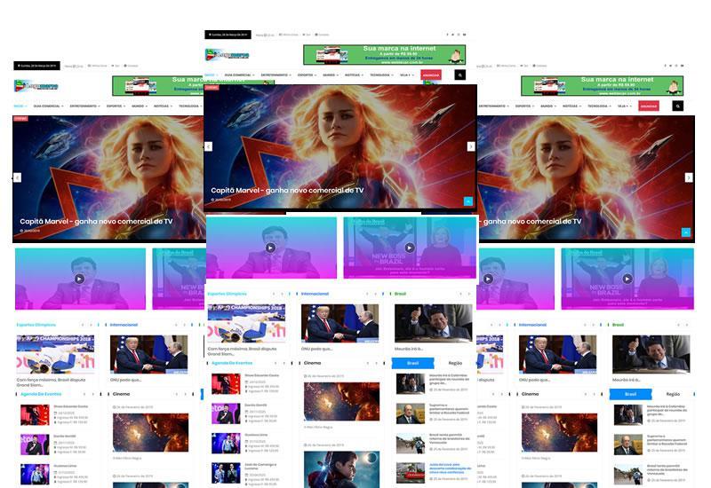 Webtec News 12 - 8 - Super site pronto para notícias e guia comercial - classificados e notícias