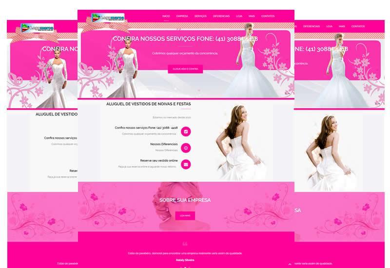 Criação de sites para noivas e locação de vestidos