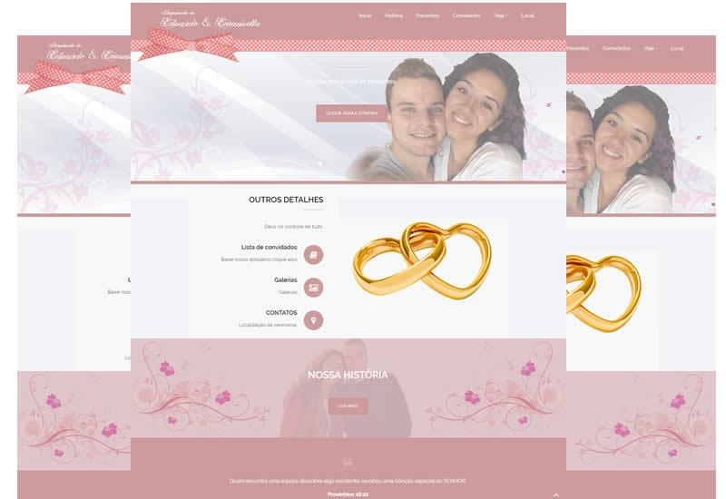 Site pronto para noivas, noivos e casamentos