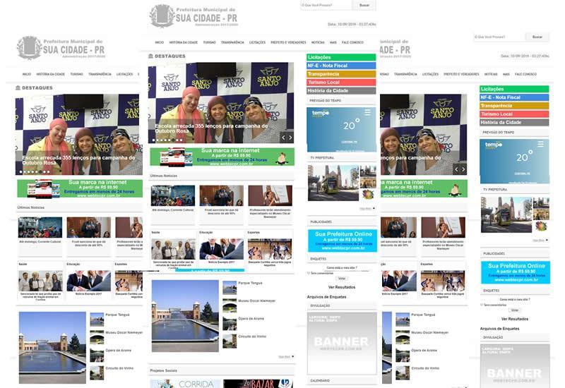 Sites para Prefeituras e câmaras municipais