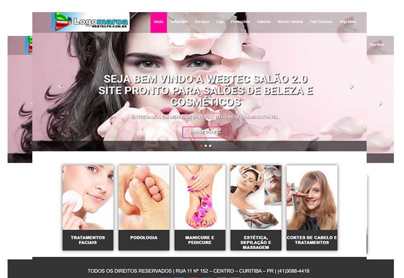 Sites prontos para salão de beleza