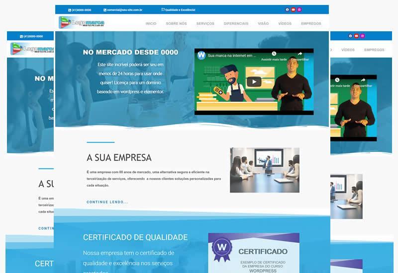 Site em wordpress e elementor