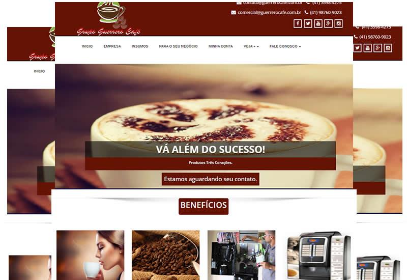 Site pronto para venda de maquinas de café e locação