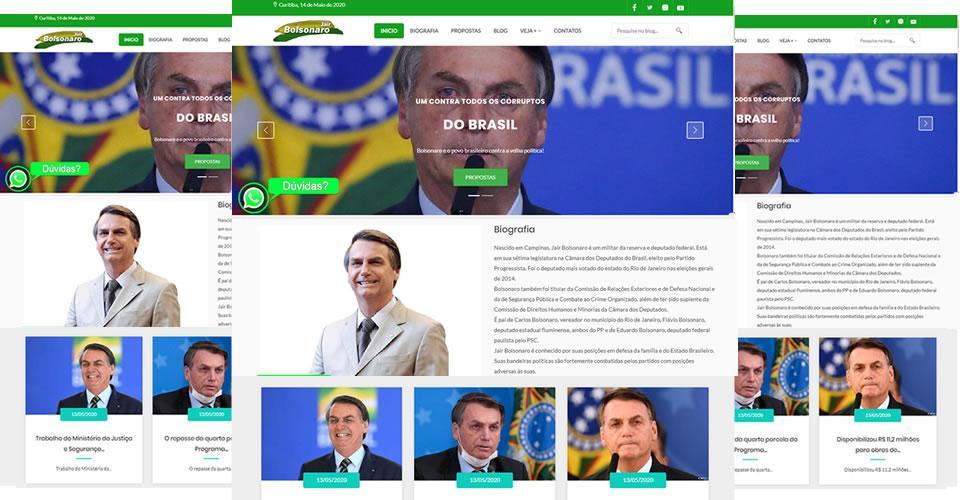 Sites prontos para deputados federais e estaduais