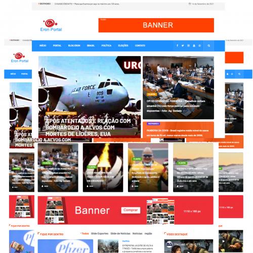 Lindo Portal de Notícias em Wordpress - Criado por Webtec Technologies