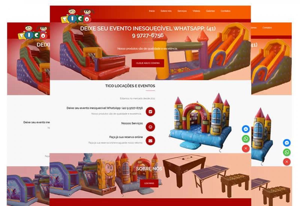 Locação de brinquedos para eventos e festas - Wordpress