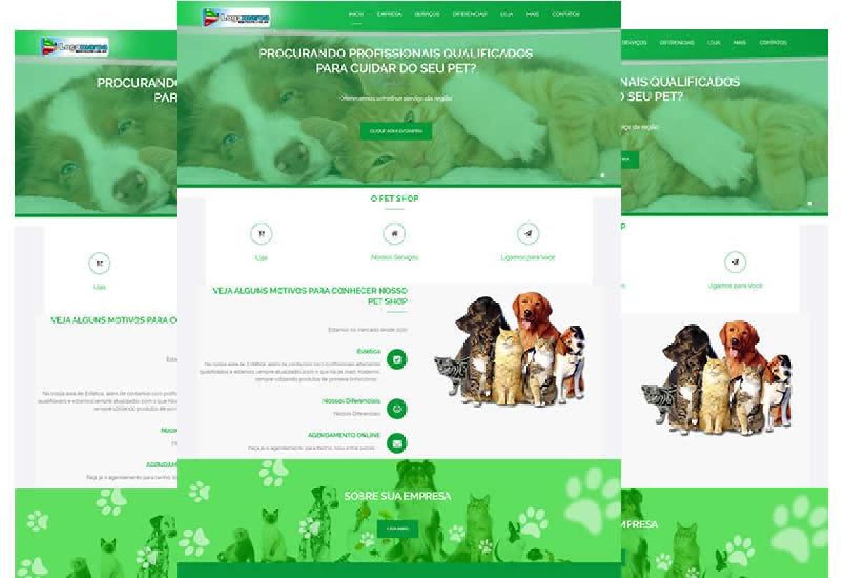 Site Pronto para pet shop e aviário