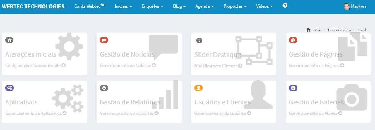 Site pronto para Prefeitos - Webtec Technologies