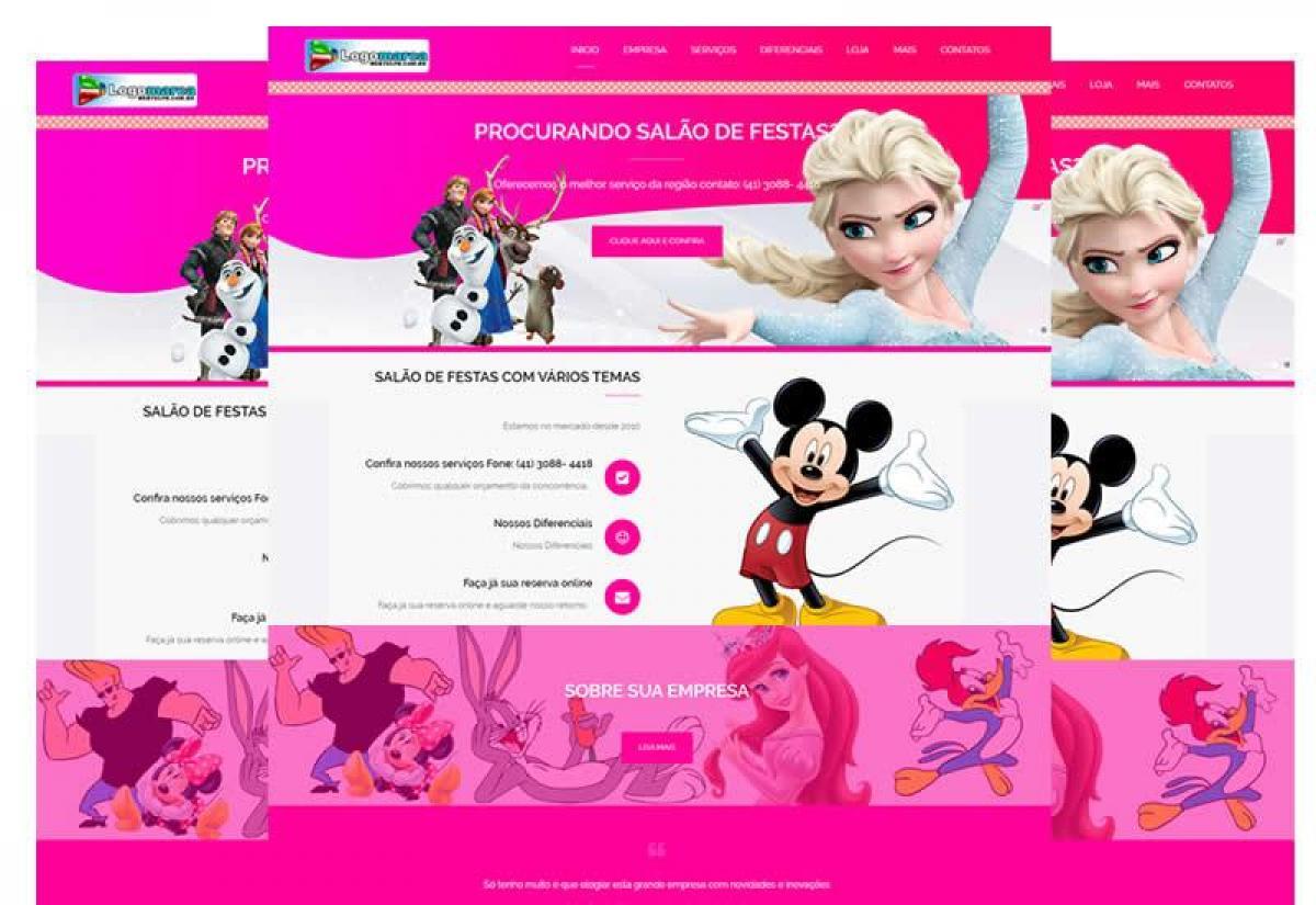 Site pronto para salão de festas e eventos - Wordpress