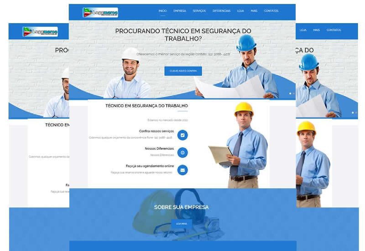 Site pronto para técnico em segurança do trabalho