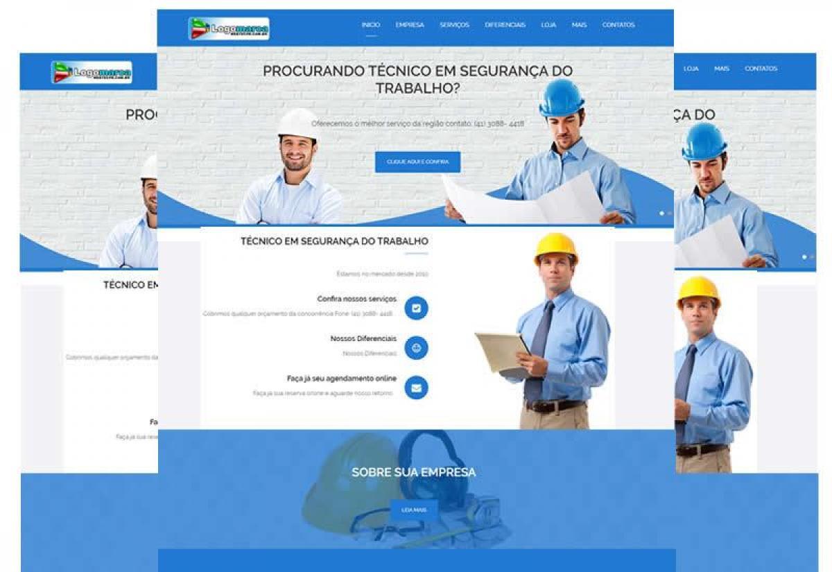 Site pronto para técnico em segurança do trabalho - Wordpress
