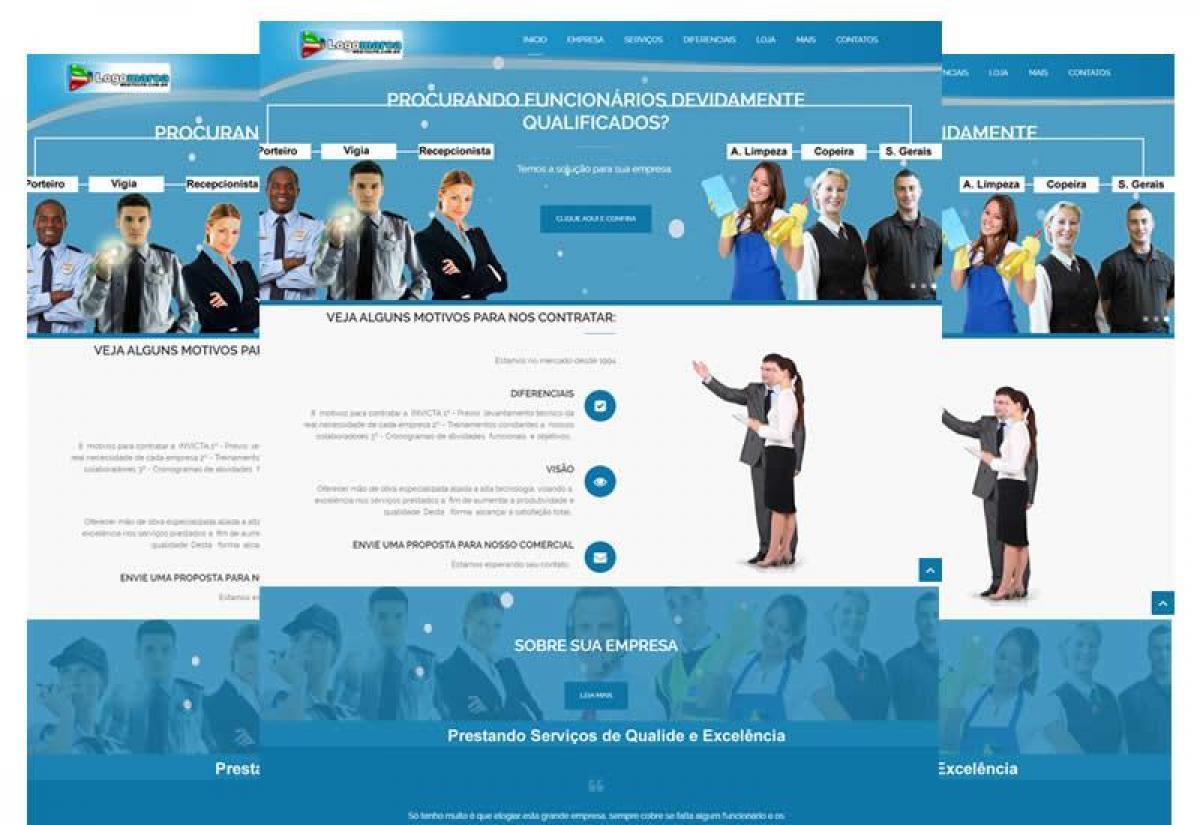 Site pronto para terceirização de mão de obra em geral - Wordpress