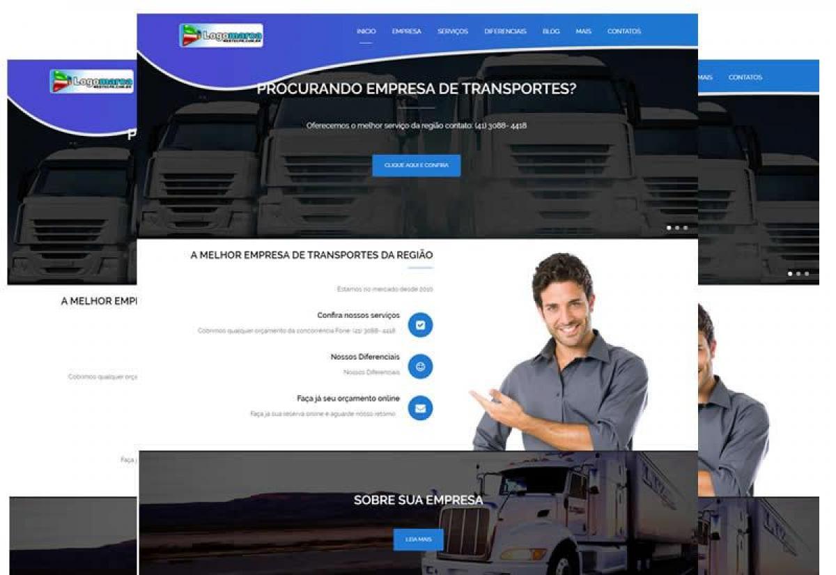 Site Pronto para transportadora em WP - Sites Prontos - Wordpress
