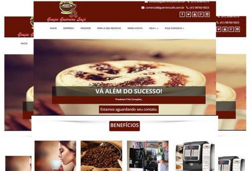 Site pronto para venda de maquinas de café e locação - Wordpress