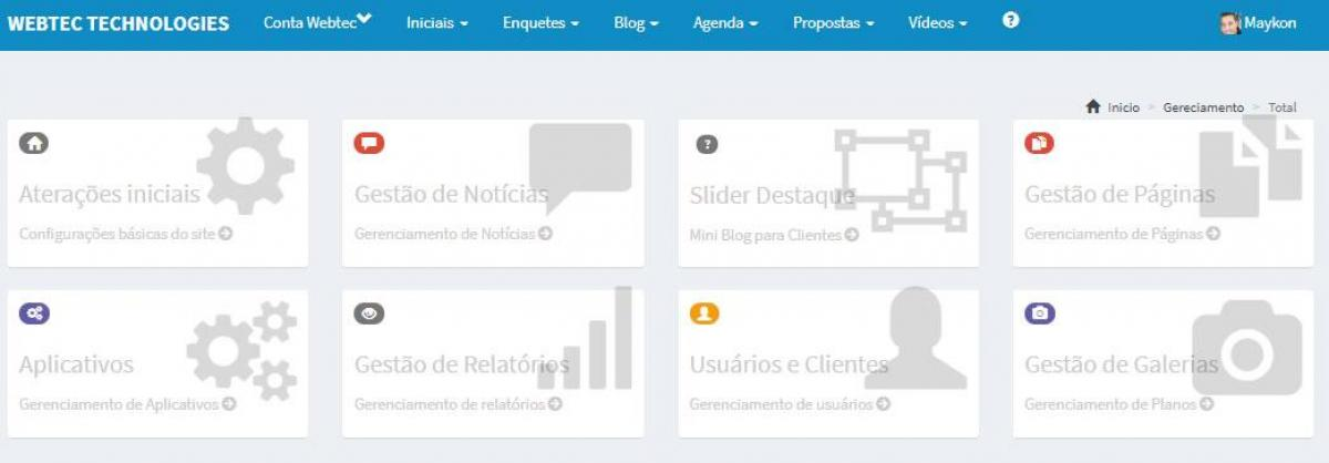 Site pronto para vereador - Webtec Technologies