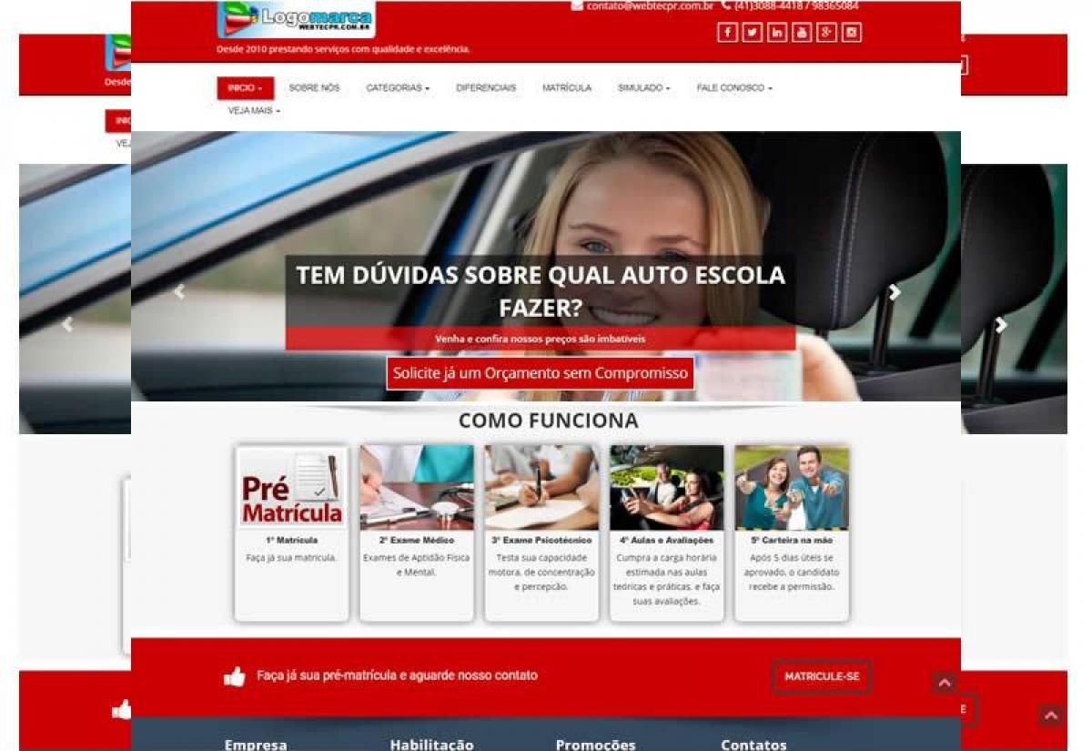 Sites prontos para auto escolas - Wordpress