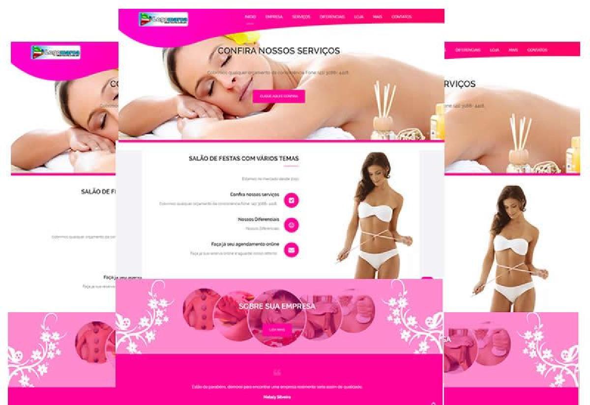 Sites prontos para clinicas de estética