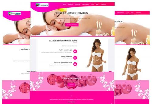 Sites prontos para clinicas de estética - Wordpress