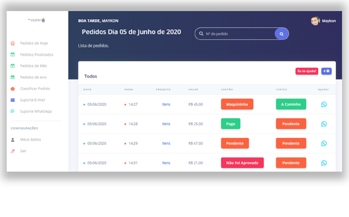 Software de Delivery  p/ Restaurantes