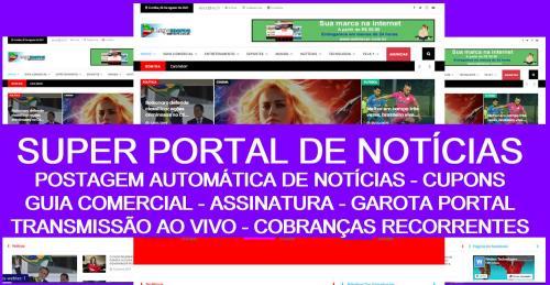Super portal de notícias pronto, com guia comercial garota do portal , agenda de eventos, cupons de desconto, produtos, assinatura e postagens automáticas
