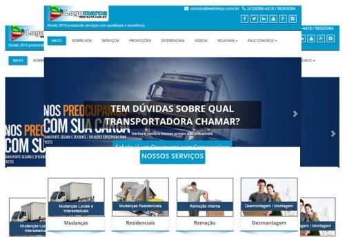 Transportadora e empresas em WP - Sites Prontos - Wordpress