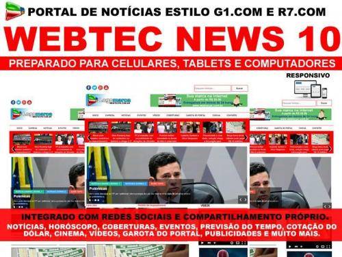 Webtec News 10 - site para notícias em wordpress