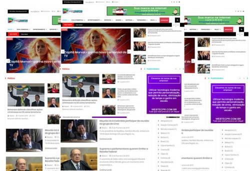 Webtec News 12 - 10 -  Site para Notícias Pronto  - Blog pronto - Guia comercial e notícias pronto