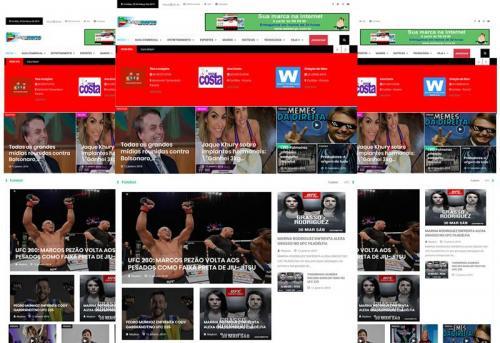 Webtec News 12 - 19 - Portal de notícias pronto com classificados - Blog de notícias pronto