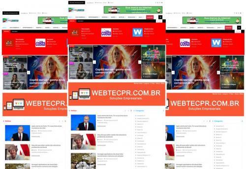 Webtec News 12 - 22 - Tenha seu blog em menos de 24 horas sites prontos para notícias