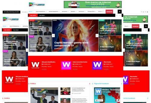 Webtec News 12 - Script d e Notícias - Site Pronto Notícias - Aplicativo de Notícias - Blog PHP
