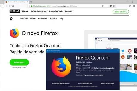 Mozilla Firefox Quantum v58.0.1