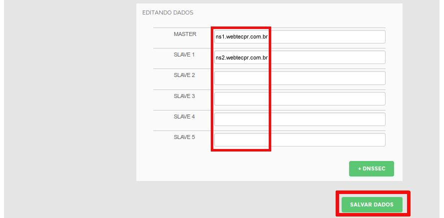 Como configurar os DNSS na empresa Webtec Technologies
